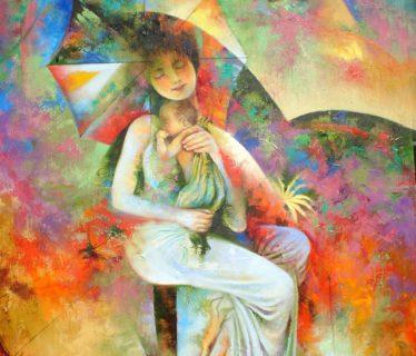 Osiris Gómez – Emociones  maternas – 2003 40 x 30