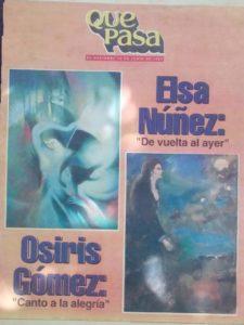 EXPOSICION DE OSIRIS GOMEZ Y ELSA NUÑEZ
