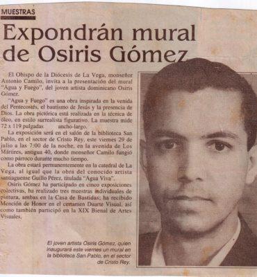 EXPOSICION MURAL DE OSIRIS GOMEZ