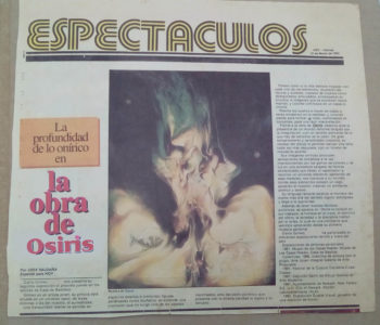 La profundidad de lo onirico en la obra de Osiris - Por JOSE SALDAÑA