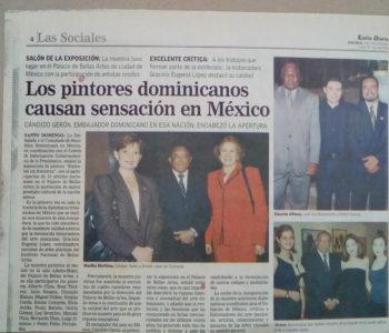 Los pintores dominicanos causan senasción en México - OSIRIS GOMEZ