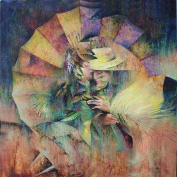 Osiris Gómez - Amantes en el paisaje - 2015 - 40 x 40