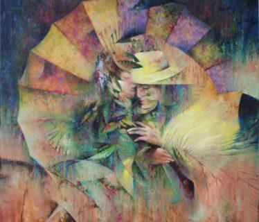 Osiris Gómez – Amantes en el paisaje – 2015 – 40 x 40