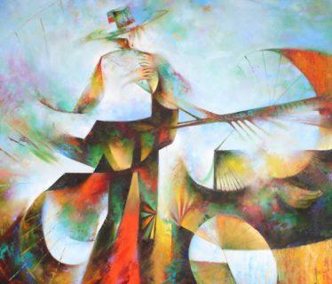 Osiris Gómez – Campesino domando la tierra 40 x 50