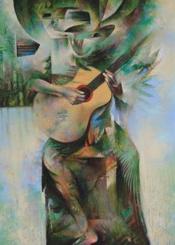 Osiris Gómez - Músico ancestral - 2015 - 40 x 30
