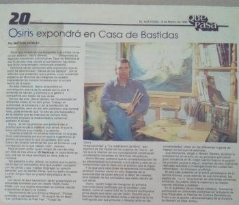 Osiris Gómez en Casa de Bastidas