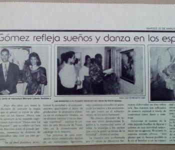 Osiris Gómez refleja sueños y danza en los espejos