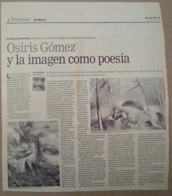 Osiris Gómez y la imagen como poesía