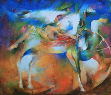 Osiris Gómez – Jinete insólito – 2015 – 35 x 45