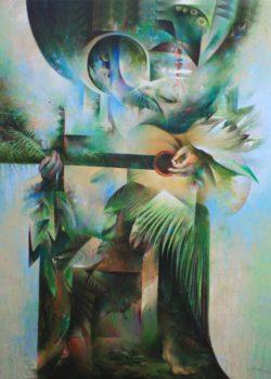 Hombre culto tocando bachata - 2015 - 40x50 Pulgs