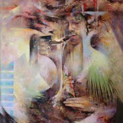 Músico cósmico - 2015 - 30x40